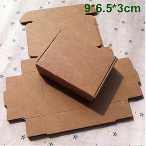 9 cm * 6,5 cm * 3 cm Kraftpapier Box Geschenkbox für Schmuck Perle Süßigkeiten Handgemachte Seife Backbox Bäckerei Kuchen Kekse Schokolade Paket Verpackungsbox