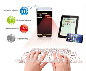 2016 mais quente vendendo o teclado virtual laser com alto-falante Bluetooth do mouse para laptop ipad tablet pc smartphone via USB Bluetooth Connection