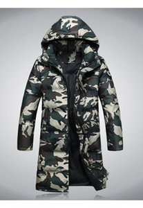 Jaqueta de camuflagem dos homens Jaqueta corta-vento homens camuflagem plus size L-4XL para baixo esportes ao ar livre lazer longo para baixo casaco alongado casaco