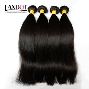 Malezya İpeksi Düz Saç Işlenmemiş 8A İnsan Saç Dokuma 4 Paketler Lot Malezya Düz Saç Uzantıları Doğal Siyah Çift Atkılar