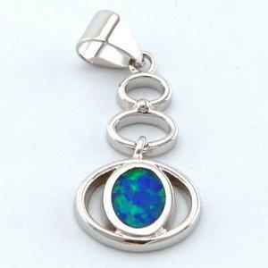Jóias Opal com pedra CZ; Moda Opal Pingente Fogo Mexicano Pingente Opal As últimas modas op241a