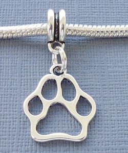 Vintage Argent DOG PAW Imprimer Pendentif Flottant Charme Pour Les Femmes Robe Bracelet Colliers Fabrication de Bijoux Filles Bijoux Accessoires 100 pcs U216