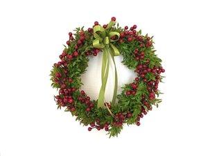 Artificiale Red Berry Red Fruit Door Lintel Flower Mirror Ghirlanda di fiori Wreath Home Decorazione di nozze di Natale