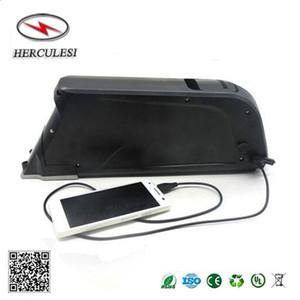 Vélo électrique au lithium-ion 48V 11.6AH Dolphin batterie 13S4P NCR18650PF Downtube monté sur batterie avec port USB Hot vente