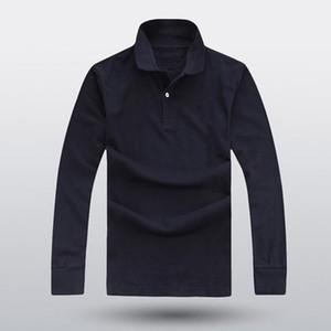 2018 nouveaux hommes de haute qualité en coton à la mode des hommes occasionnels POLO shirt à manches longues, plus la taille chemise à revers