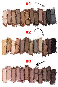 Maquillage en stock Palette d'ombres à paupières NUDE Palette d'ombres à paupières maquillage (1 2 3) 12 couleurs fard à paupières 3 versions Iron Box With Brushes