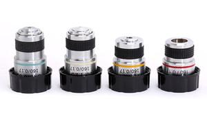 Ensemble de microscope biologique Freeshipping Lentilles Objectifs Achromatiques 4X 10X 40X 100X