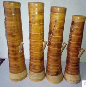 Haut de gamme ouest Yunnan narguilé tuyau d'eau en bois incrusté jade bambou tête narguilé tuyau bouche bouche cuivre