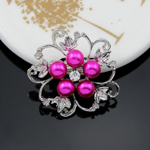 Brooches For Women Fashion Jewelry Channel Brooches Pins Gold Silver Plated Lapel Flower Scarf Buckle Clips Crystal Rhineston Brooches