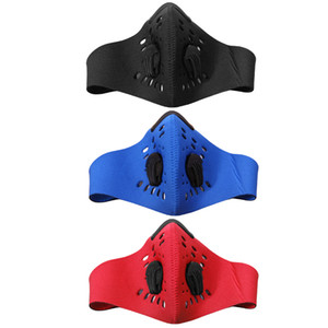 Wholesale- PM2.5 Filter Anti-Pollution Masks Two Exhale Valves Dustproof Mountain Road Bike Cycling Sports Running Face Mask