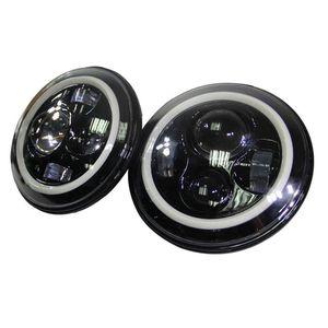 7 inç 40 w Yuvarlak Cree H4 LED Far Jeep Wrangler için Ön Sürüş Far Araba Styling Başkanı Işık Jeep için