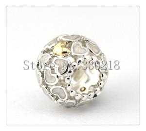 Pandora Openwork coração charme 925 sterling silver solto beads para pulseira de fio de jóias de natal autêntica qualidade