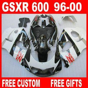 Zu verkaufen ! Verkleidungskit für SUZUKI SRAD 96 97 98 99 00 GSXR600 GSXR750 weiß schwarz Verkleidungsteile GSXR 600 750 1996 1997 1998 1999 2000 5A7W