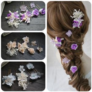 Wedding Hair Accessory Starfish Flower Strass Brides Hair Sticks Hairwear Per matrimoni estivi in spiaggia