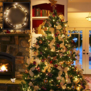 водонепроницаемый 10 м 100 светодиодов медный провод строка огни LED звездное декор праздник партии Рождественская елка праздник лампы чистый белый теплый белый