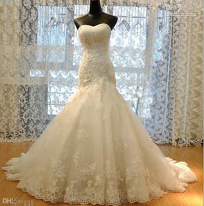 Новое Прибытие Горячая распродажа настоящая сделана принцесса кружева русалки свадебные платья апдики W1421 длинные свадебные платья современного самого высокого качества потрясающий вершин