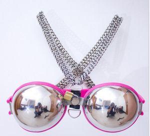 2018 nuevas modas sujetador de banda ajustable de acero inoxidable Bondage Bdsm cinturón de castidad dispositivo bdsm sexo adulto juguete