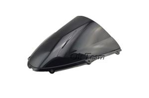 Envío libre motocicleta parabrisas del parabrisas del ABS para Kawasaki Ninja ZX6R 2005-2008 / ZX10R 2006-2007 636 negro / transparente