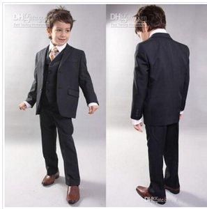 Özel Yapılmış Moda Kids 'Smokin Donanma Erkek Takım Elbise, Yakışıklı Düğün Parti Boys' Örgün Durum Takım Resmi Kıyafet