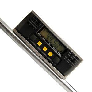 Freeshipping Dijital İletki İnklinometre Elektronik Seviye W / Dahili Manyetik Paslanmaz Çelik Taban Ölçme Araçları