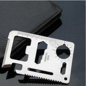 Pocket Mini 11 in Credit Card 서바이벌 통치자 나사 식칼 하이킹 편리한 다기능 도구 키트 사냥 편리한 무료 배송