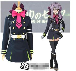 Toptan-japon anime Seraph son hiiragi shinoa cosplay kostüm kızlar için tam takım
