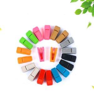 Perchas mágicas antideslizantes Durable Seguro ABS Clip de corbata de plástico Multi colores Diseño en zigzag Ropa interior Pinza azul 0 38xg B