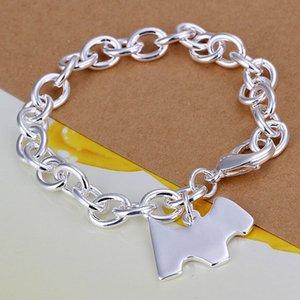Heißer Verkauf beste Geschenk 925 Silber Hundemarke Armband rau DFMCH271, nagelneue Art und Weise 925 Sterlingsilber überzogen Kettenverbindungsarmbänder hochwertig