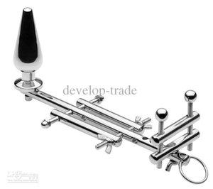 2021 Neue Gürtel männlich einstellbar Bondage Stretching Sex Multifunktionale Stahl Montage Spielzeug Hintern Keuschheit Edelstahlgerät A129 BDSM Stecker DWHQ
