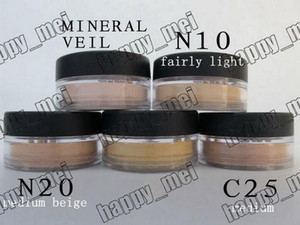 شحن مجاني epacket New Minerals Powder Original / Mineral Veil Foundation! N10.N20.C10. حجاب معدني