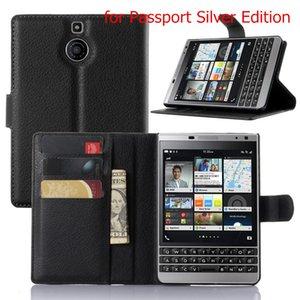 BB Priv luxe Business Style Flip Wallet PU Housse en cuir pour Blackberry Passport Q30 Cas de téléphone portable avec support de carte Stand