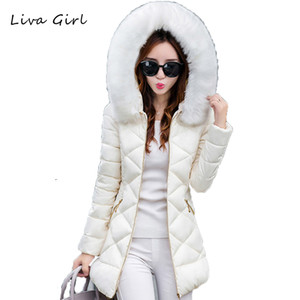 Wholesale-LIVA GIRL Winter Jacket Women Hot 2017 New Park Long Female Jacket Thick Coat High Quality Warm Women's Winter Coats WJN104