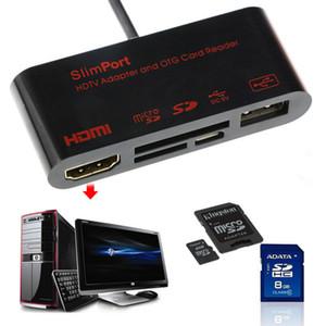 HDTV محول / قارئات بطاقات OTG microSD HDMI طقم اتصال لسامسونج غالاكسي S5 S4 S3 ملاحظة III ملاحظة II ملاحظة 4 3 2