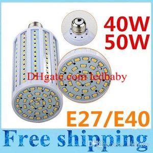 E40 E27 40W 50W Bombillas LED Lámpara de maíz ligera 132 / 165pcs SMD 5630 Luces de maíz LED Blanco cálido / Blanco AC110-240V Garantía 3 años