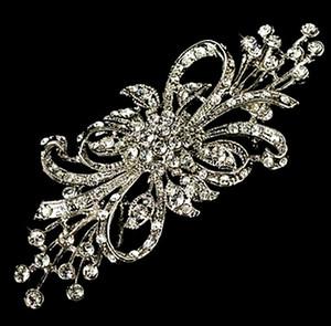 3,75 Zoll Rhodium Silber / Gold Tone Extra große Größe klar Strass Diamante Hochzeit Bouquet Brosche
