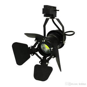 10pcs / pack Led Track light 7w cob rail lampada LED negozio di abbigliamento illuminazione LED Spotlight con coperchio regolabile sul davanti