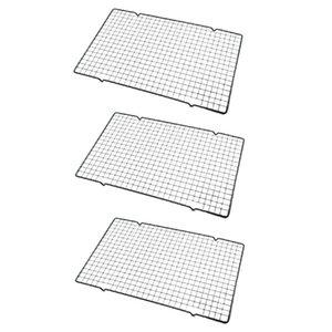 Herramientas para hornear, Pastel de enfriamiento, Negro Non-Stick Pan 3 PCS Rolling Pins Pastry Boards