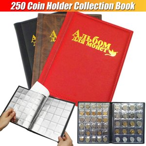 Coin Album 10 Pages 250 Units Russian Language Professional Coins Collection Book Holder for Euro Collecting Storage Supplies 210330