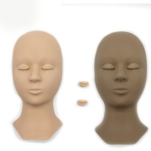 Soft PVC Eyelash Extension Practise Tools Training Head Multi Color Mannequin Heads with Replaceable Eyelids