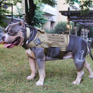 Taktische militärische Jagdschießen-Shooting CS-Armee-Service Nylon-Haustierwesten Airsoft-Training MOLLE Dog Weste Harness 201127