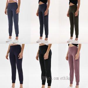 2021 Bayan Pantolon Yoga Tayt Egzersiz Yüksek Bel Spor Hizala Lu Lulu Cep İki Yan Koşu Spor Pantolon Yüksek Kaliteli