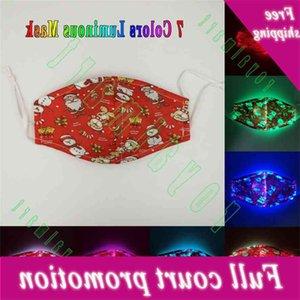 Creativo 7 colori LED natale maschera luminosa maschera per la bocca di carnevale
