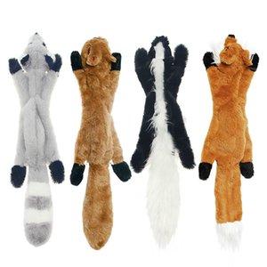 2020 neue süße plüsch spielzeug squeak pet wolf kaninchen tier plüschtier hund kau quietschen whistling beinhaltet ichhörnchen hund spielzeug