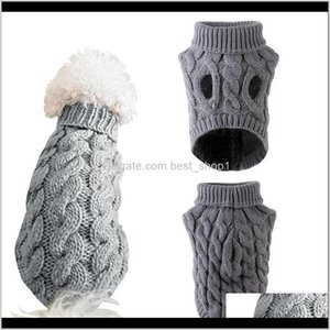 Apparel Supplies Home Garden Drop Delivery 2021 Winter Knitted Dog Clothes Warm Jumper Sweater For Small Large Dogs Pet Clothing Coat Knittin