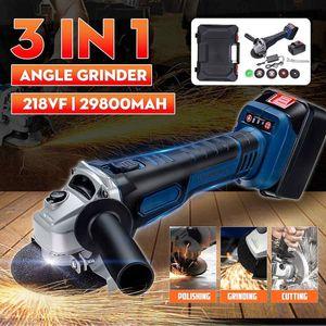 Grinder 110V-240V 29800mah Electric Brushless Angle 20000r min With 2pcs Li-ion Batteries