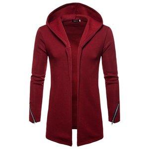 ZOGAA 2021 Autumn And Winter New Men's Sweater Men's Long Sleeve Long Hooded Top Warm Slim Fashion Windbreaker Casual Coat Cardi