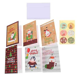 Greeting Cards 4 Sets Festival Christmas Wishing Present Mixed Style