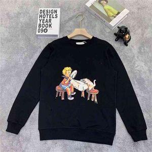 Sudaderas con capucha de diseñador de hombres Moda suéter impresa sudadera con capucha High Street suelta casual para hombres y suéter de mujer Hombres Hip Hop Ropa Tamaño S-XHD2101