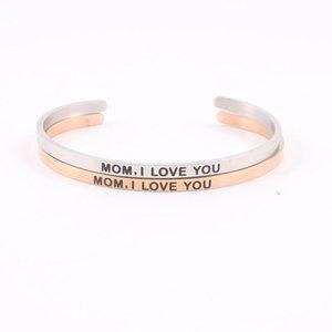 Браслет мама я люблю тебя браслеты для женщин вдохновляющие подарок мотивация манжеты дружба персонализированные ювелирные изделия мантры