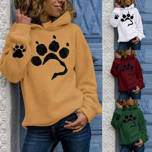hoodies Women's Printed Cat Claw Casual Long Sleeve Pullover Loose Autumn And Winter Fleece Hooded Sweatshirt Hoodies Tracksuit